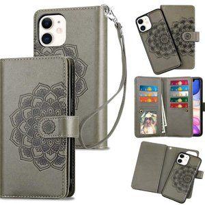 iPhone 12 5G Mandala Wallet Shockproof Phone Case